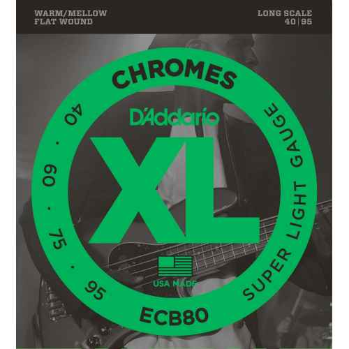 D´addario ECB80 Chromes Bass, Light, Long Scale [40 95]